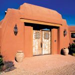 Double grilled gates in Santa Fe
