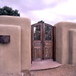 Custom arched double gate