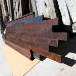 Bar top with distressed patina