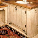 Cabin custom vanity detail photo