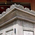 Bar cabinet crown moulding detail