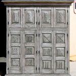 Original mesquite finish of bar area cabinet