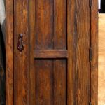 Back of interior small arched door