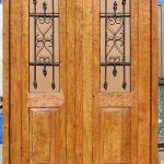 Arched bedroom doors front