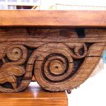 Detail of antique corbel table