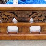Front of antique corbel table