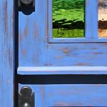 Custom Dutch door detail