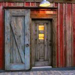 Custom barn sliding door installation