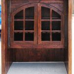 Hutch top detail for built-in living room bar cabinet