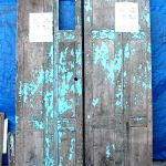 Antique doors used for pantry cabinet and fridge surround