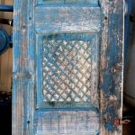 Antique door with carved panels