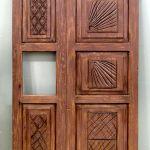 Carved wood refrigerator. panels