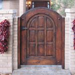 Arched entry gate