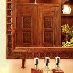 Custom bar and mirror