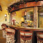 Custom tropical bar