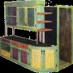 Custom bar cabinet detail photo