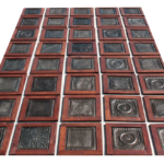Tin and wood ceiling panels