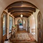 Heavy timber ceiling beams and corbels installation photo