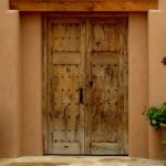A pair of antique Mexican gates were used to make these entry gates