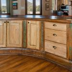 Curved kitchen island cabinets