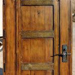 Back of custom arched door