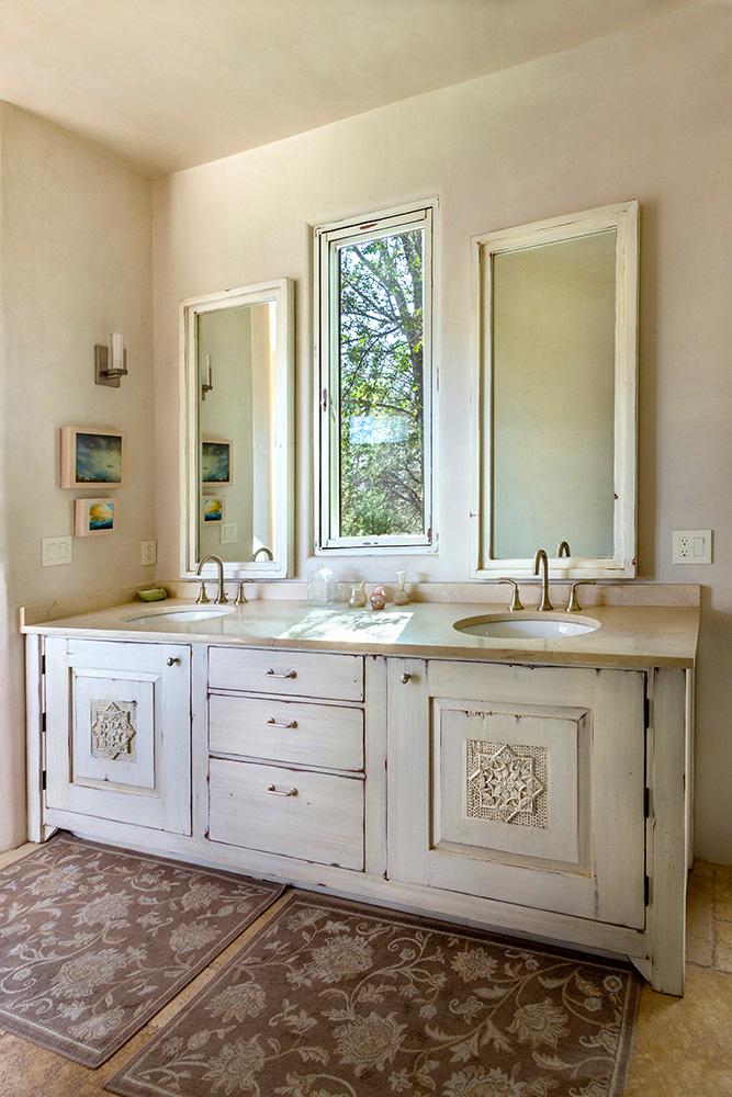 Custom bath vanity installed